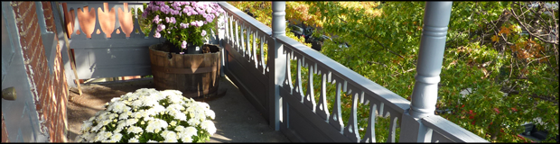header flowered porch